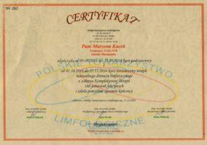 certyfikat masaże chrzanów